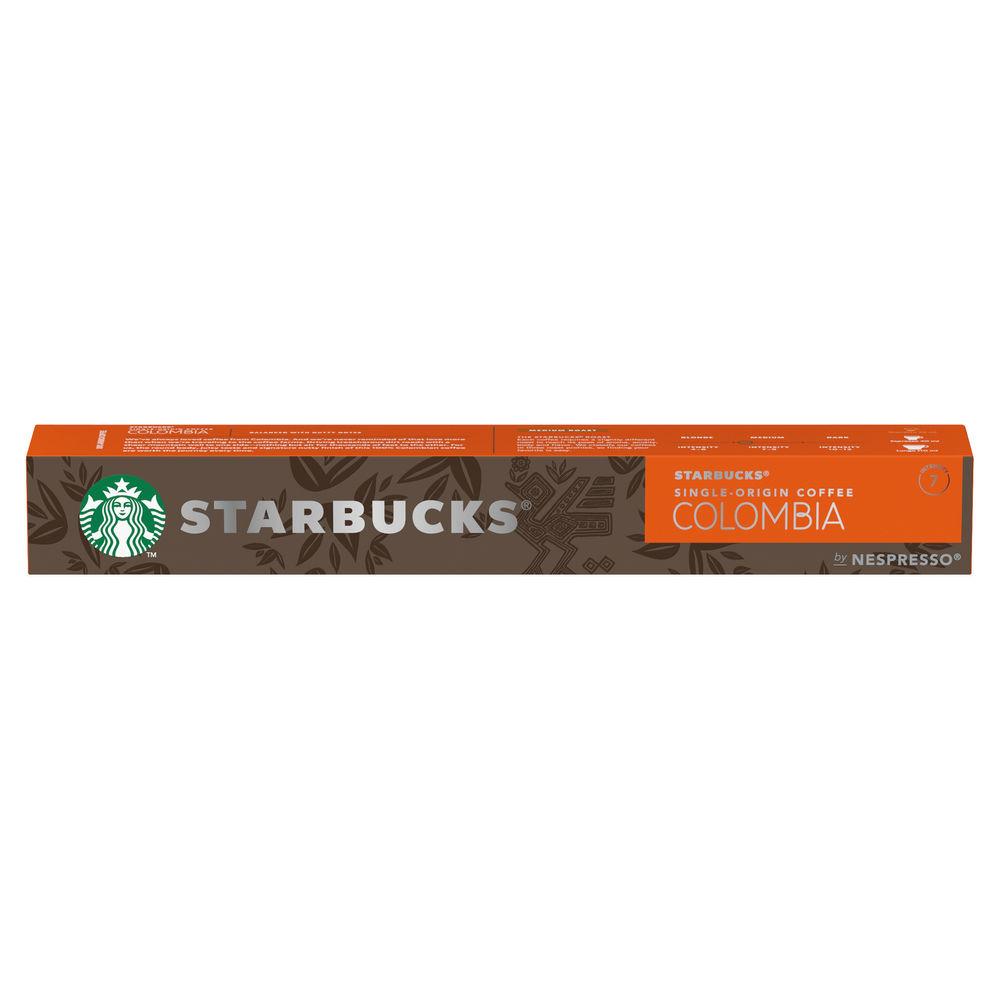 Nespresso Starbucks Colombia Espresso Coffee Pods, Pack of 10 - 12423359