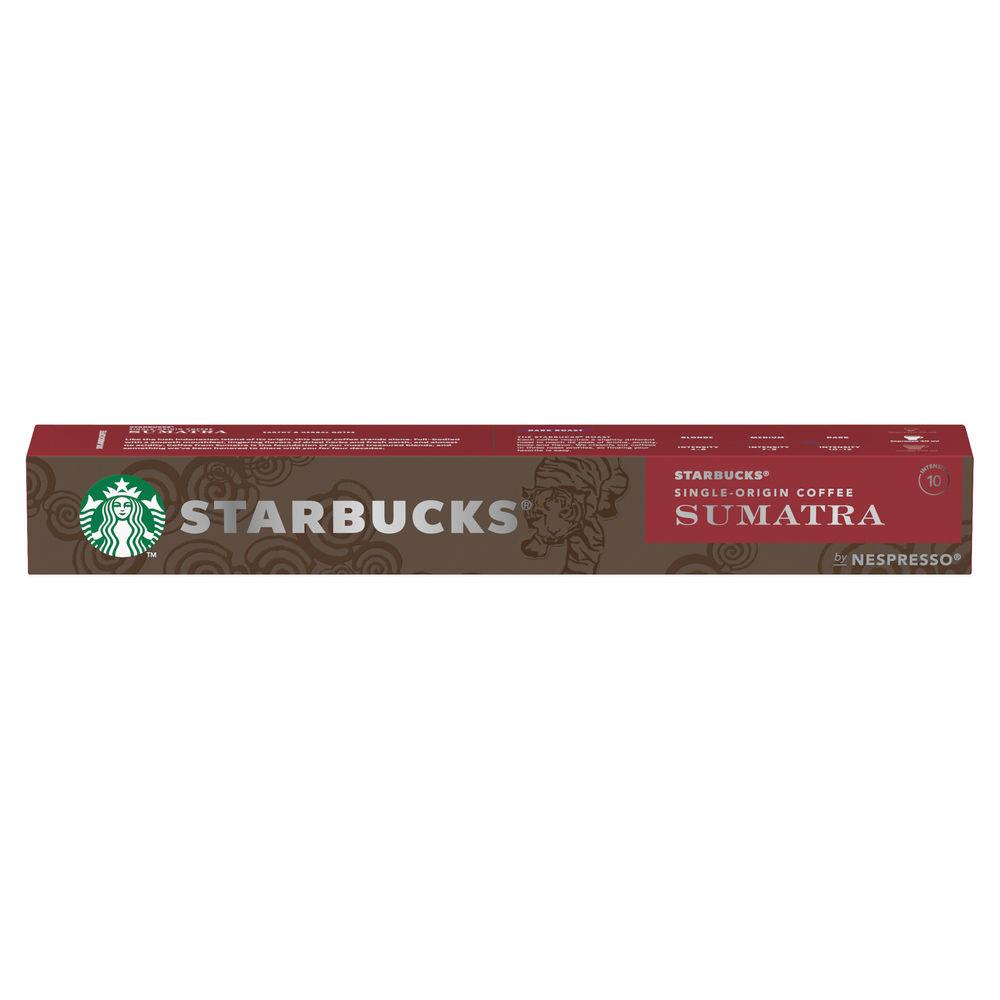 Nespresso Starbucks Sumatra Espresso Coffee Pods (Pack of 10) 12423376