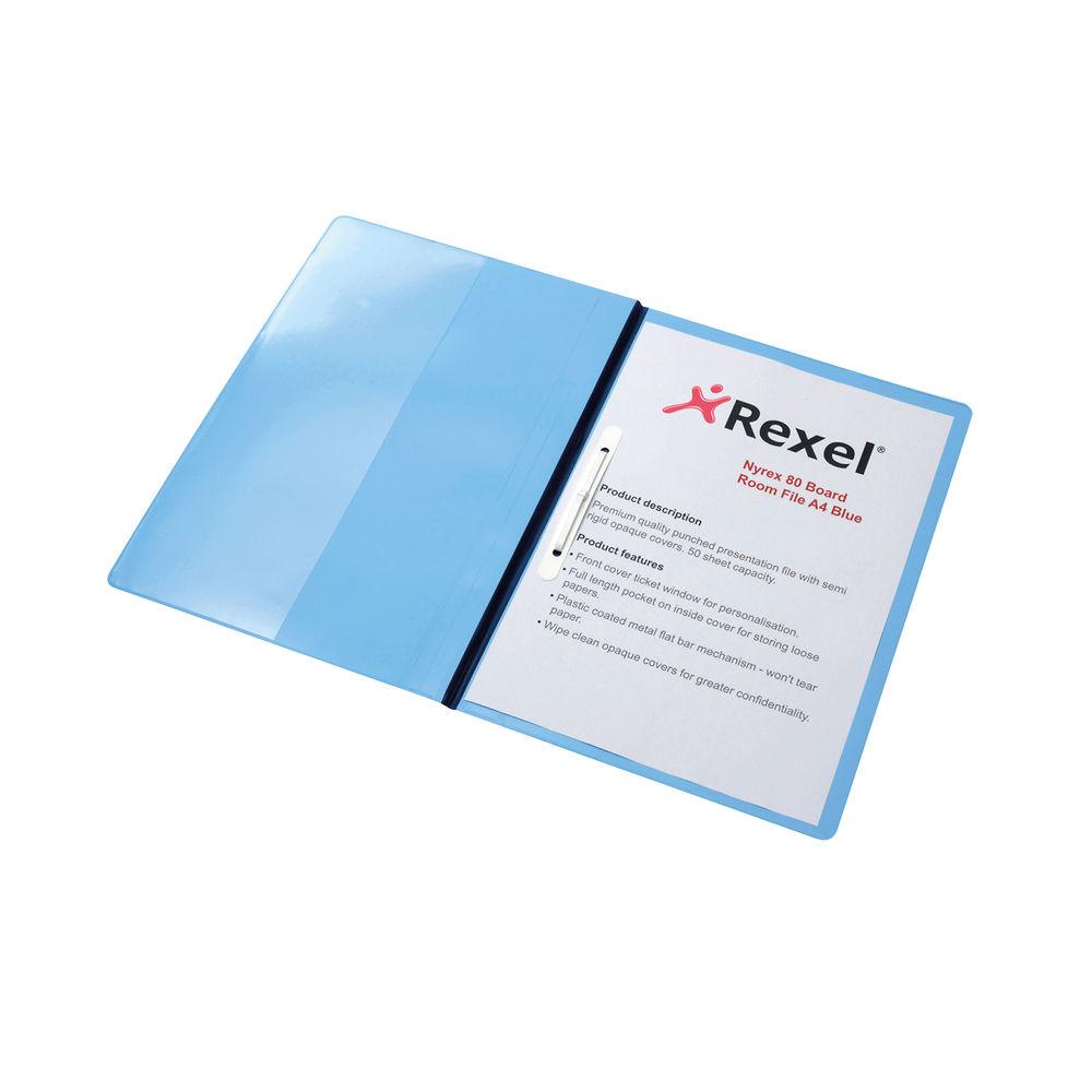 Rexel Nyrex Blue A4 Boardroom Files - Pack of 5 - 13035BU