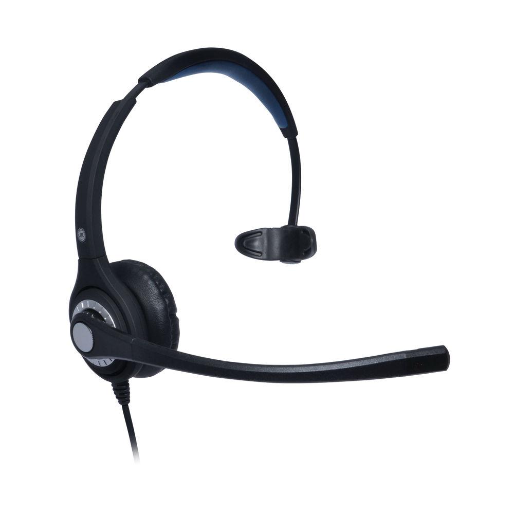 JPL 401S Professional Monaural Adjustable Headset With PLX Quick Disconnect (QD) Black JPL-401S