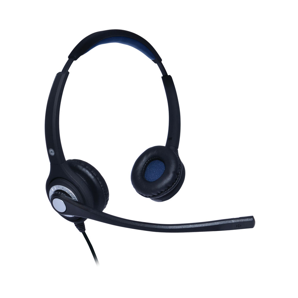 JPL 402S Professional Binaural Adjustable Headset With PLX Quick Disconnect (QD) Black JPL-402S