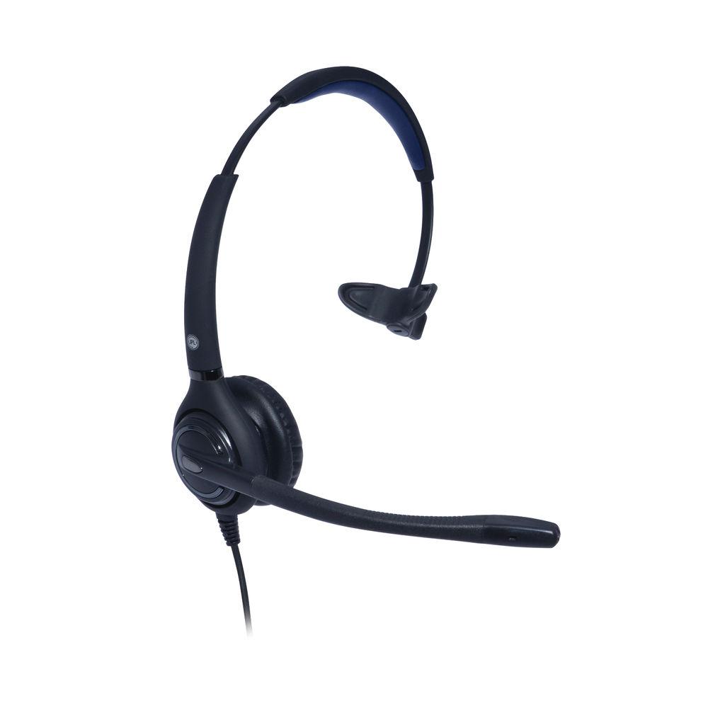 JPL 501S Professional Monaural Adjustable Headset With PLX Quick Disconnect (QD) Black JPL-501S