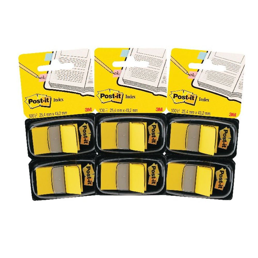 Post-it Index Dispenser Yellow (Pack of 2x50) 3For2 3M810106