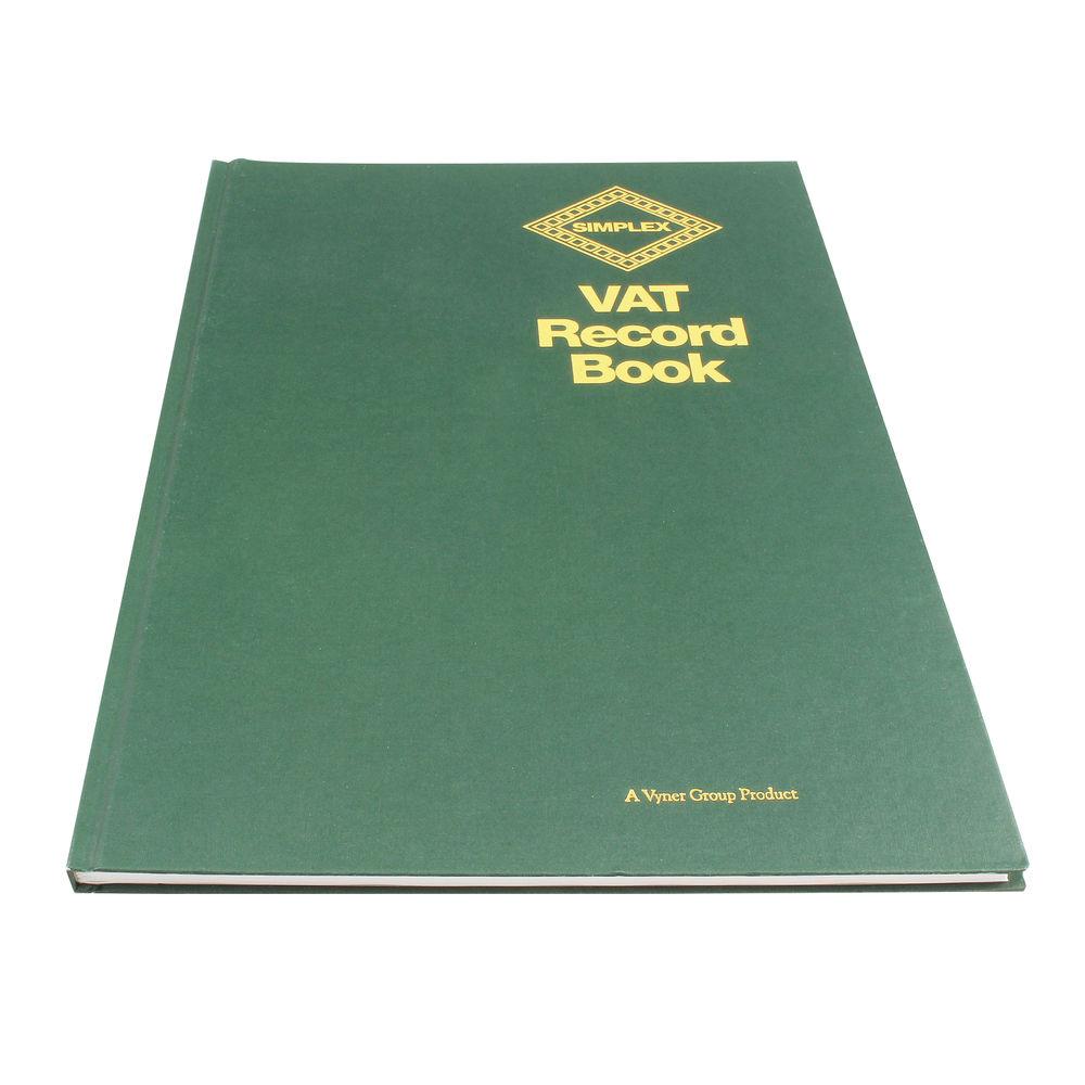 Green Simplex Hardback VAT Records Book - VAT