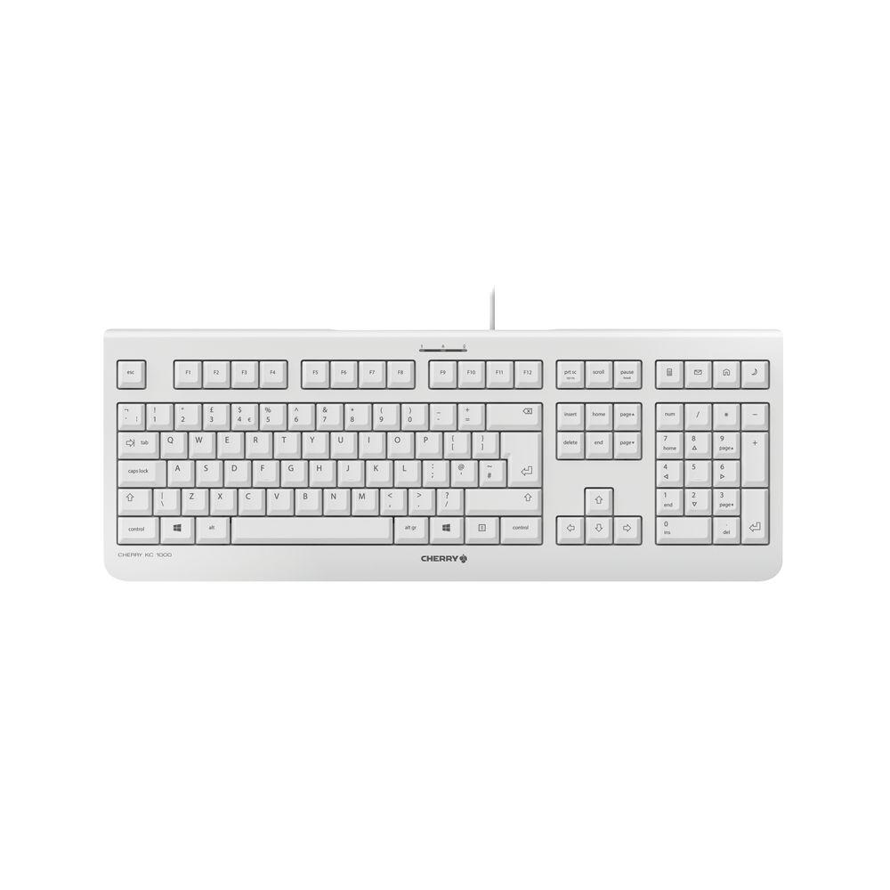 CHERRY KC1000 Grey Flat Wired Keyboard - JK-0800GB-0