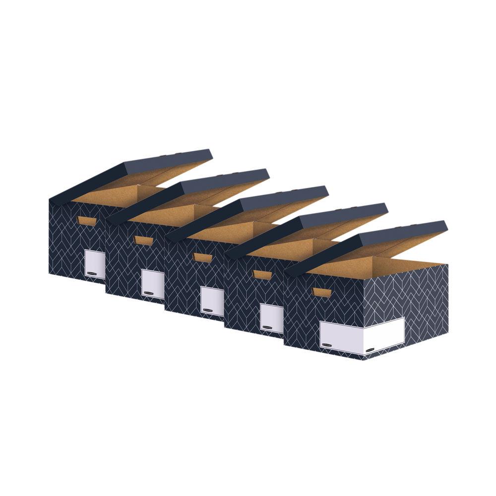 Bankers Box Decor Flip Top Box Grey (Pack of 5) 4483601