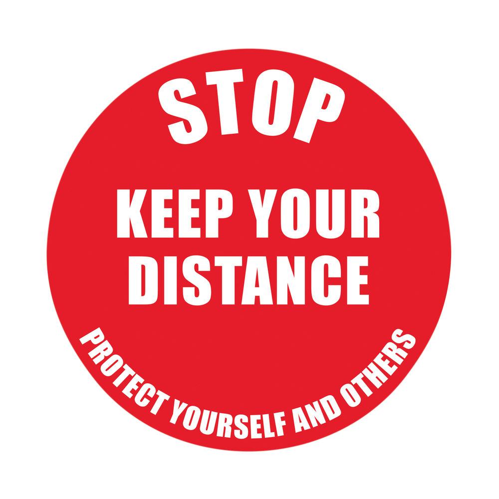 Social Distance Marker Keep Your Distance 235mm SDM01