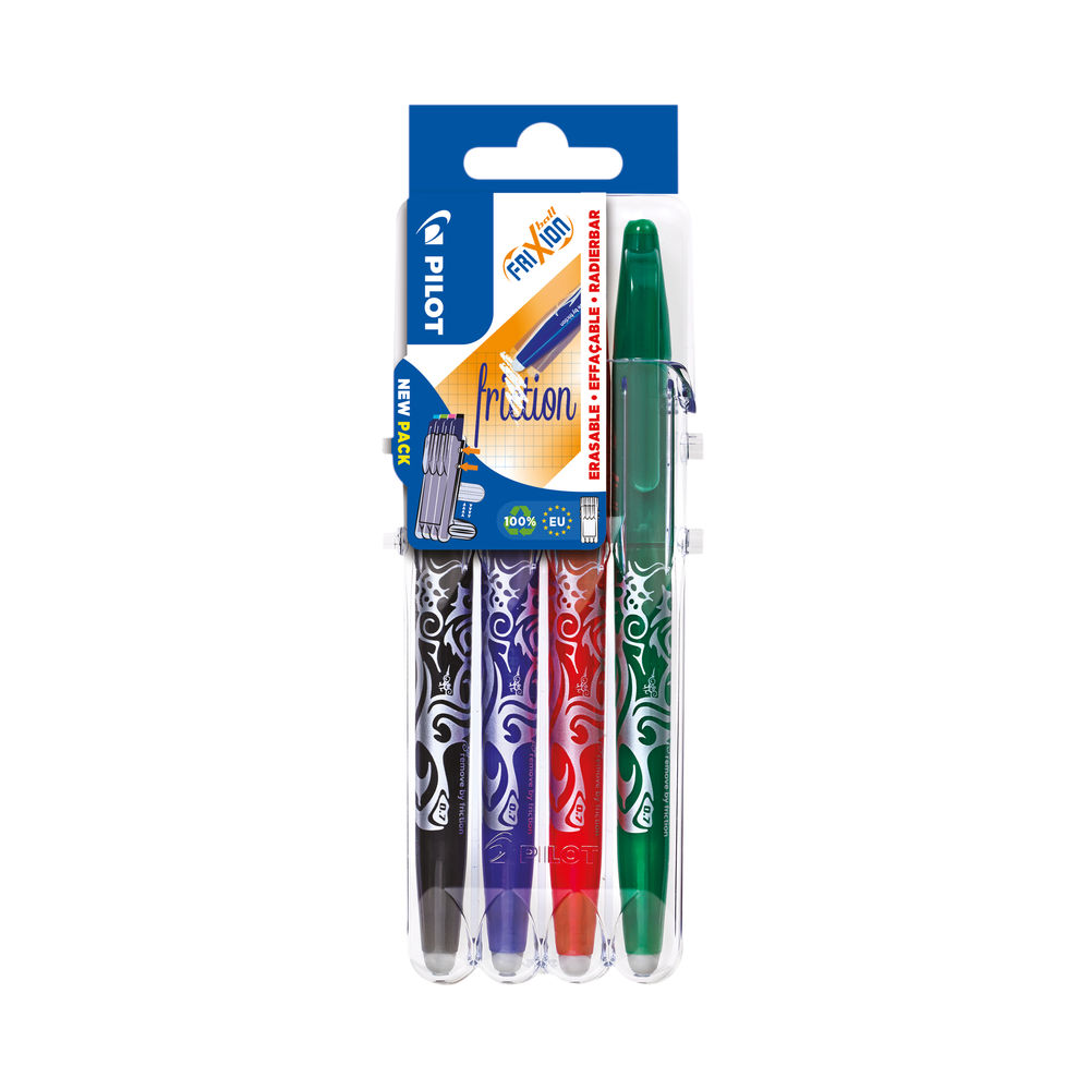 Pilot FriXion Set2Go Rollerball Pens Assorted (Pack of 4) 3131910546795