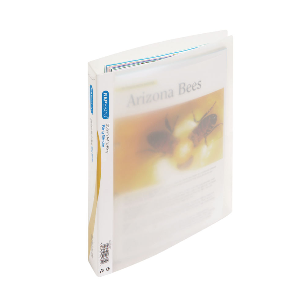 Rapesco 25mm Two-Ring Binder A4 Clear (Pack of 10) 0715