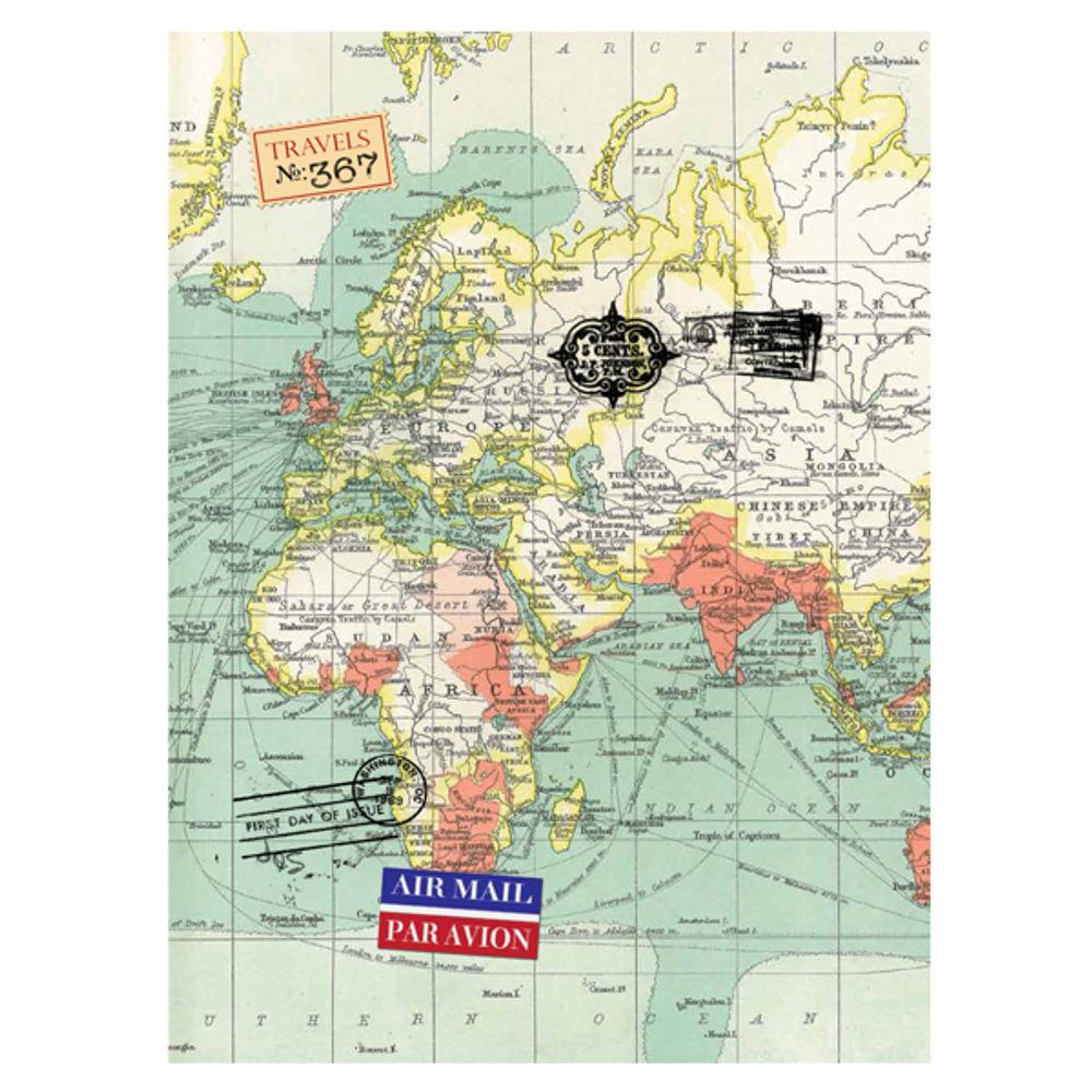 Vintage Map A6 Cased Notebook - RFS9929