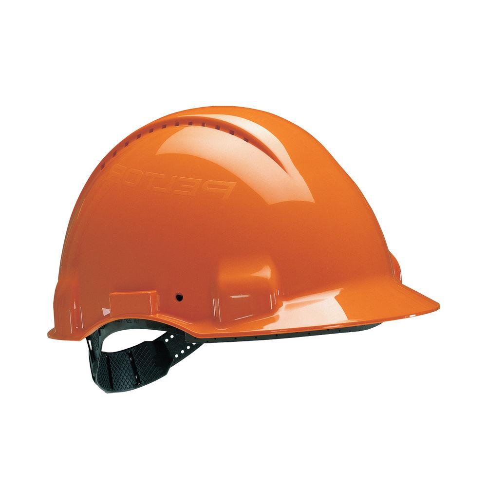 3M Orange UV Stabilised ABS Peltor Safety Helmet - G30COR