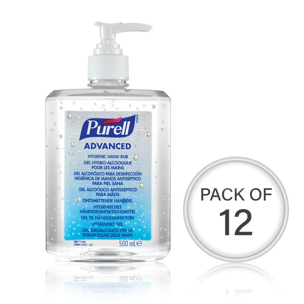 Purell Advanced Hygienic Hand Rub 500ml (Pack Of 12) 9268-12-EEU00