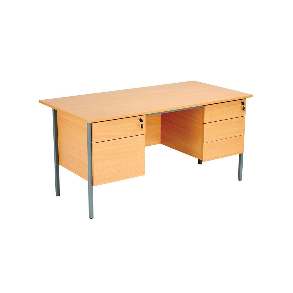 Serrion 1500mm Bavarian Beech Double Pedestal Desk - KF838379