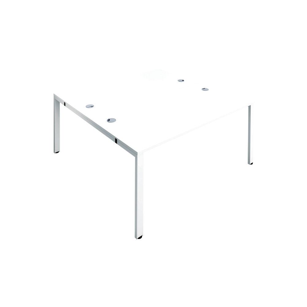 Jemini 1400mm White/White Two Person Bench Desk