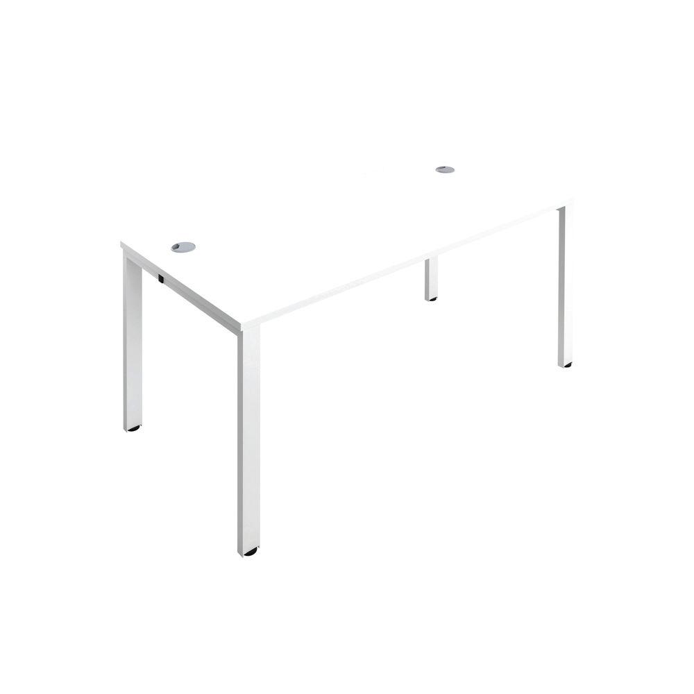 Jemini 1600mm White/White One Person Bench Desk