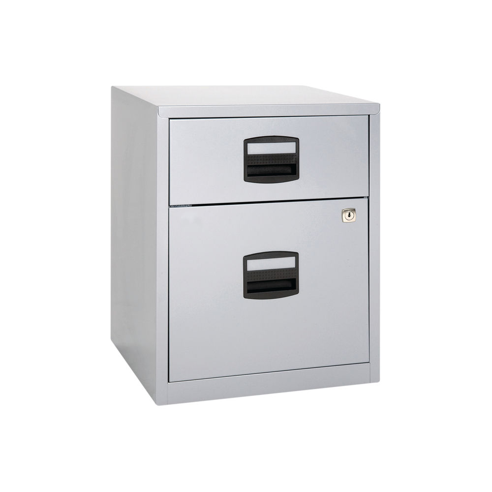 Bisley 525mm Grey Home 2 Drawer Filing Cabinet - BY11112