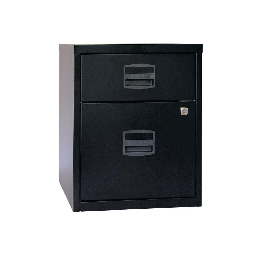 Bisley 525mm Black Home 2 Drawer Filing Cabinet - BY31012