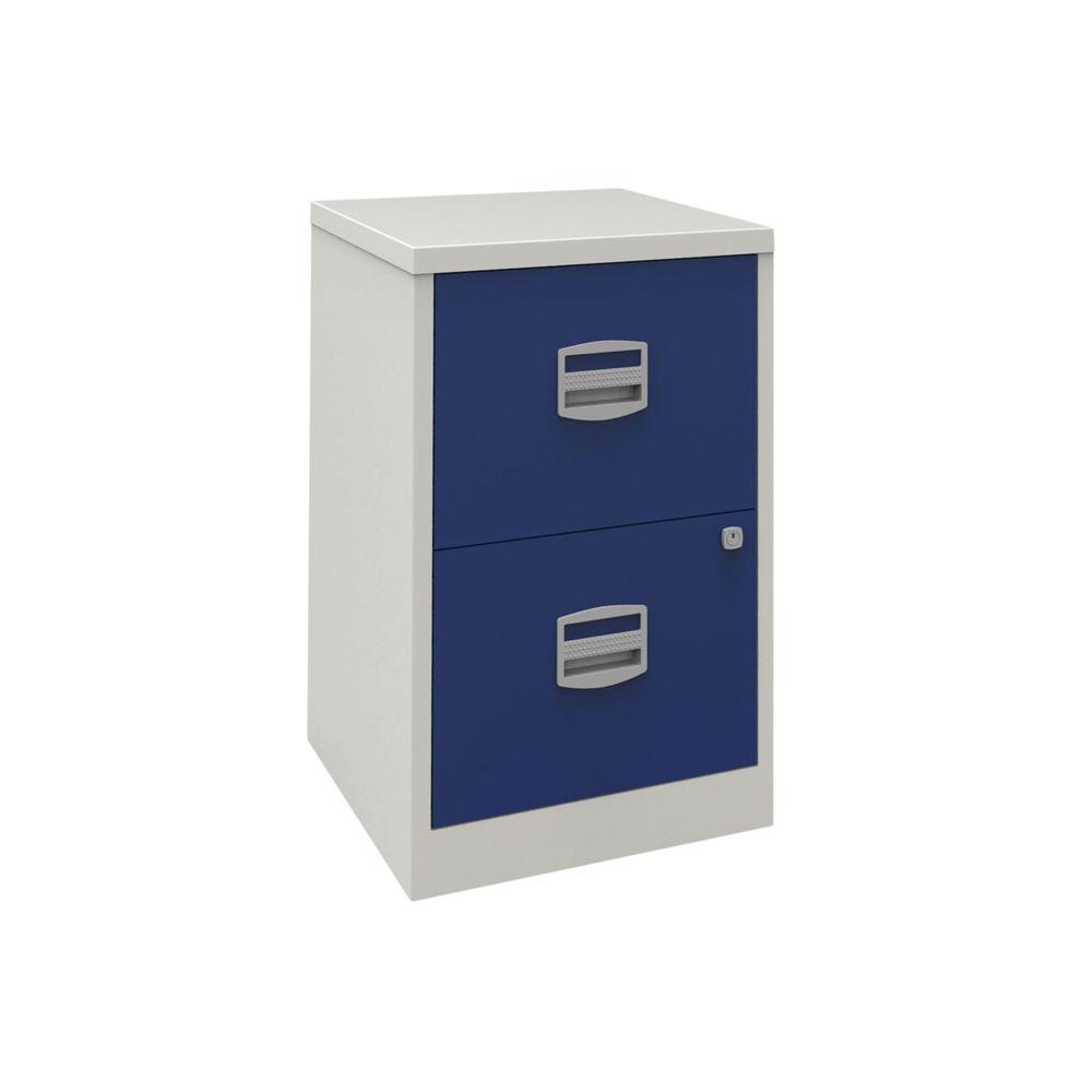 Bisley 672mm Grey/Blue Home 2 Drawer Filing Cabinet - PFA2-8748