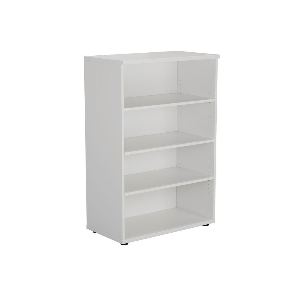 Serrion 1200mm White Bookcase
