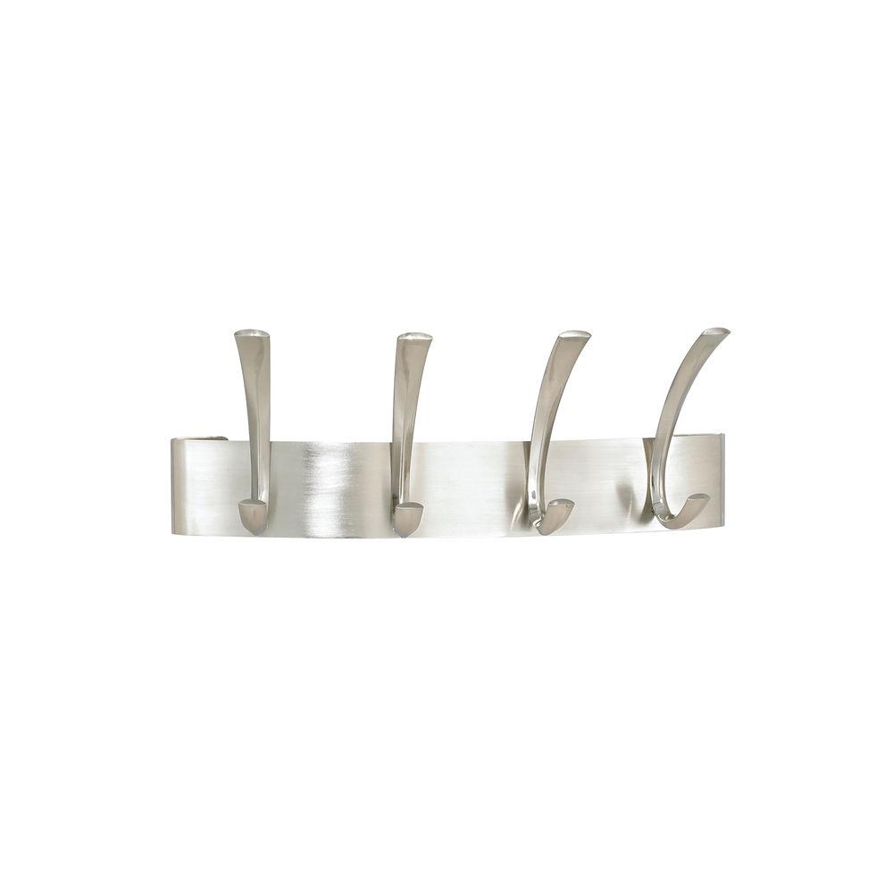 Safco Curve Silver 4-Hook Metal Coat Rack – 4205SL