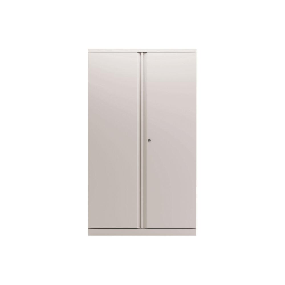 Bisley 1570mm Chalk White 2 Door Empty Cupboard - BY78713
