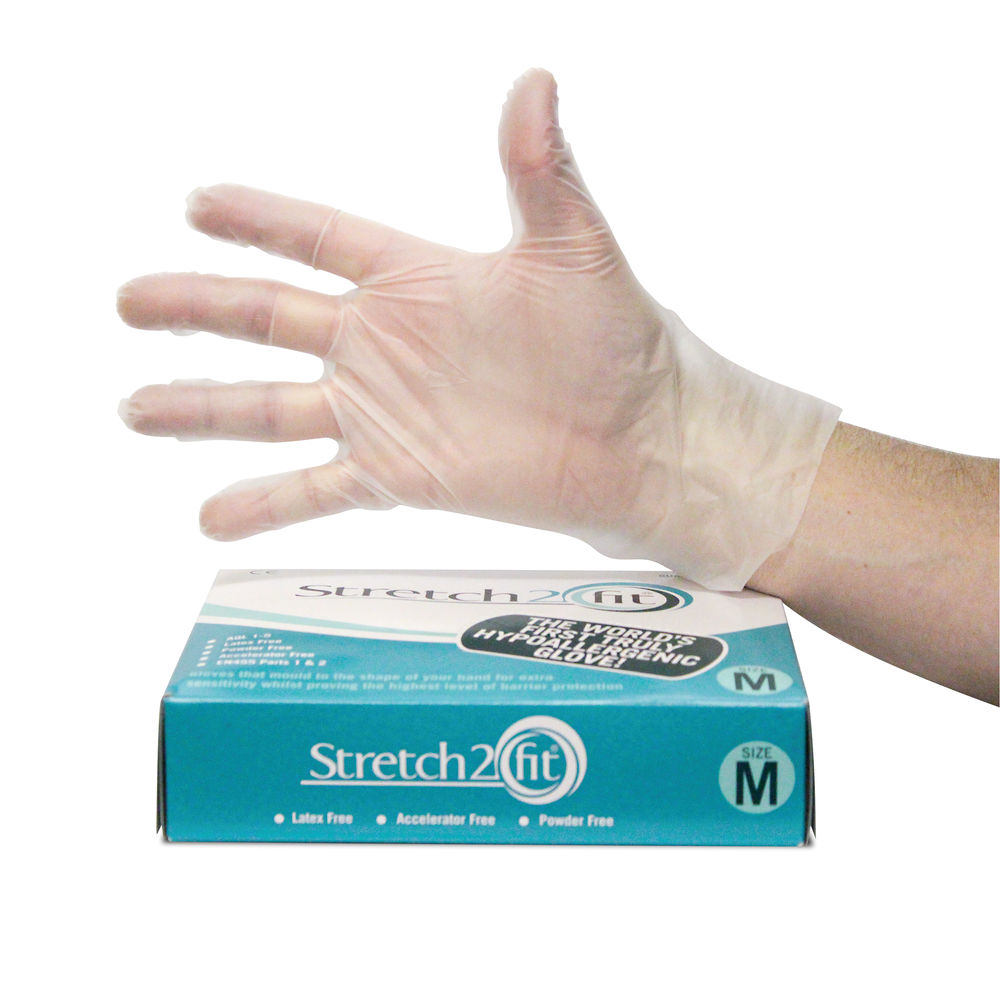 Stretch 2 Fit Clear Gloves Large (Pack of 200) AS2F104