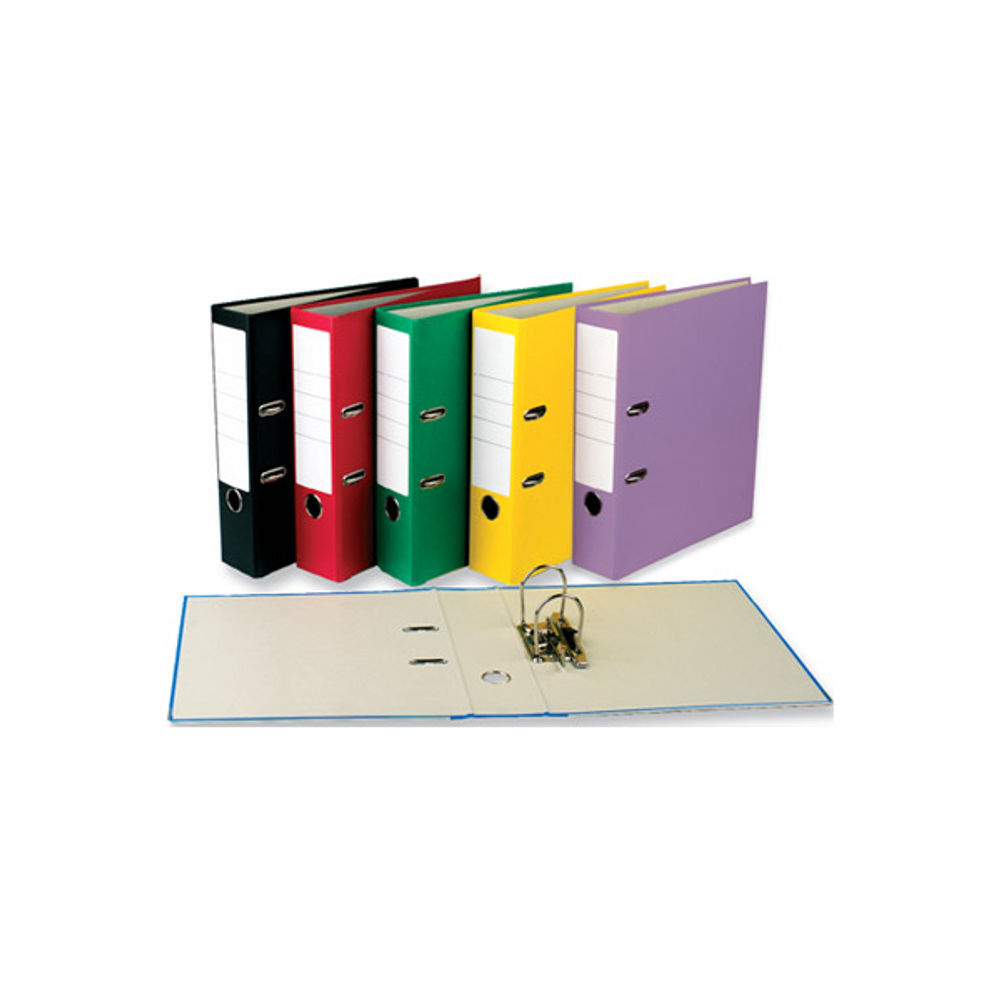 Basics A4 Lever Arch File 70mm Capacity Purple