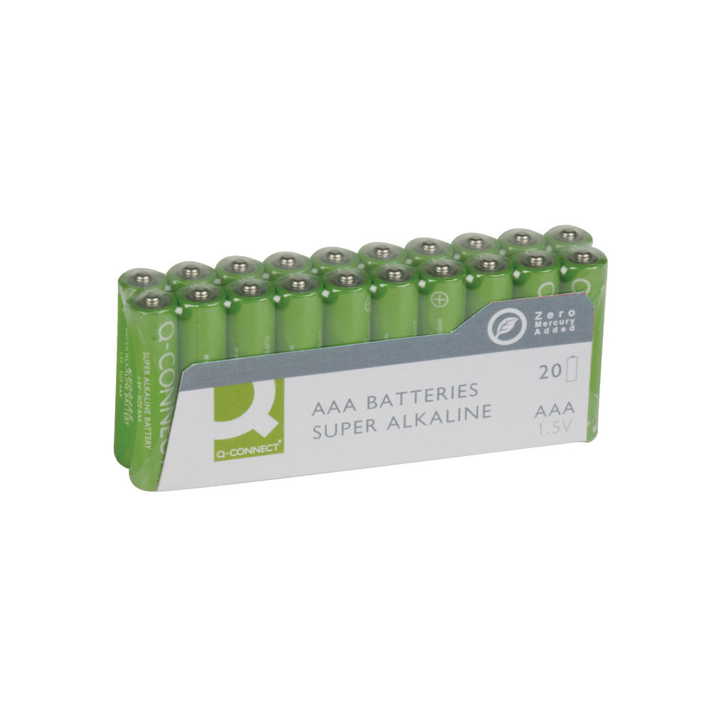 Q-Connect AAA Batteries, Pack of 20 - KF10849