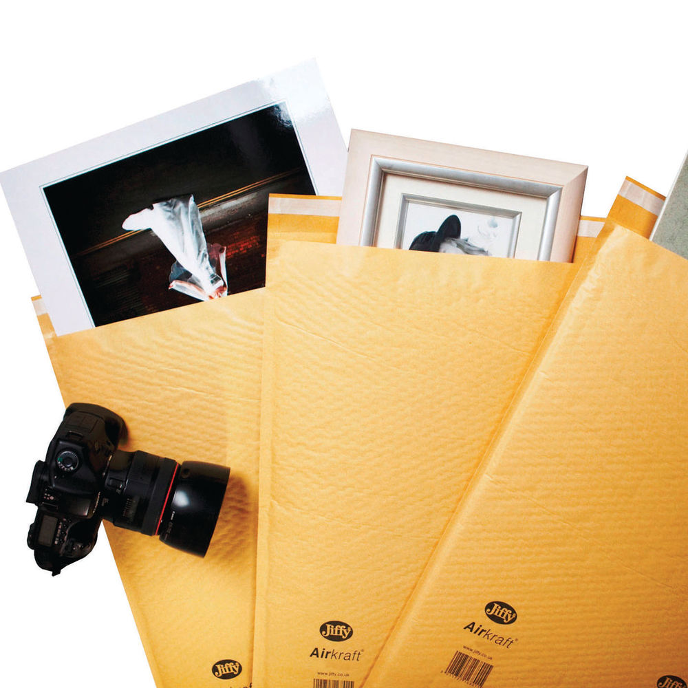Jiffy Airkraft Gold Size 00 Mailers, Pack of 100 - JL-GO-00