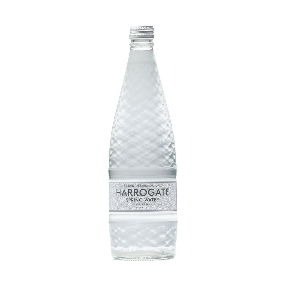 Harrogate Spa - Sparkling Bottled Spring Water 750ml-  Pack of 12 - G75012 2C