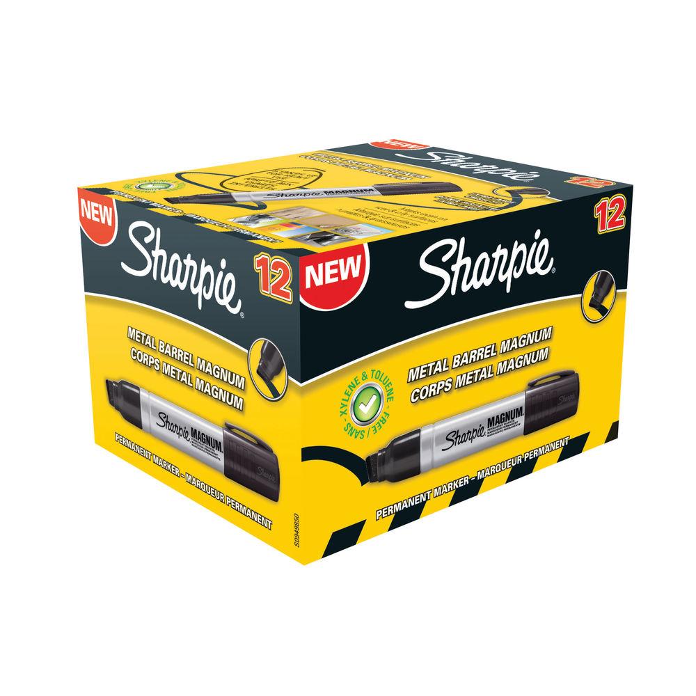 Sharpie Magnum Black Permanent Marker Pens, Pack of 12 - S0949850