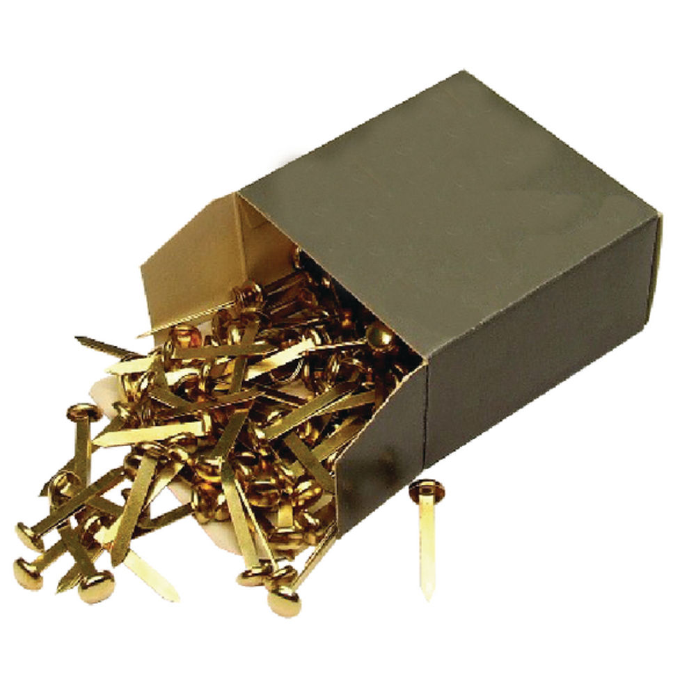 Brass 20mm Paper Fasteners, Pack of 200 - WS36630