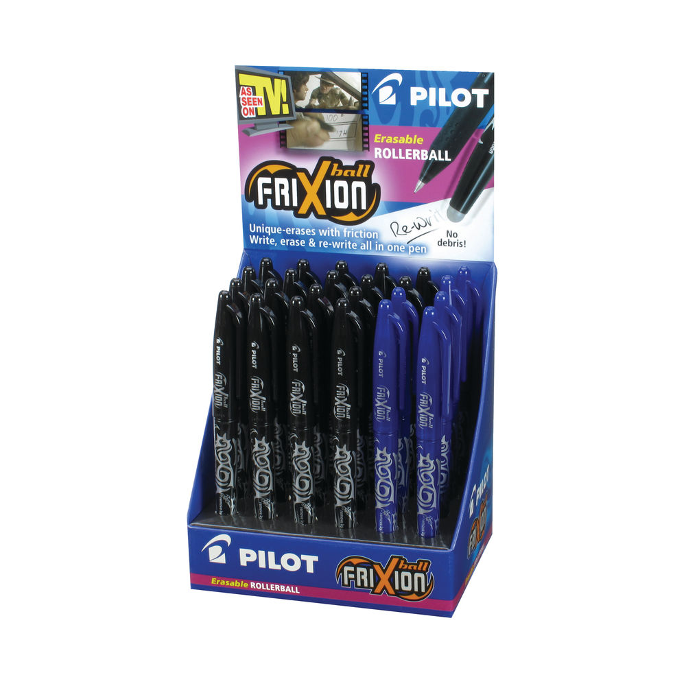 Pilot Frixion Rollerball Display Blk/Blu (Pack of 24) 100101201