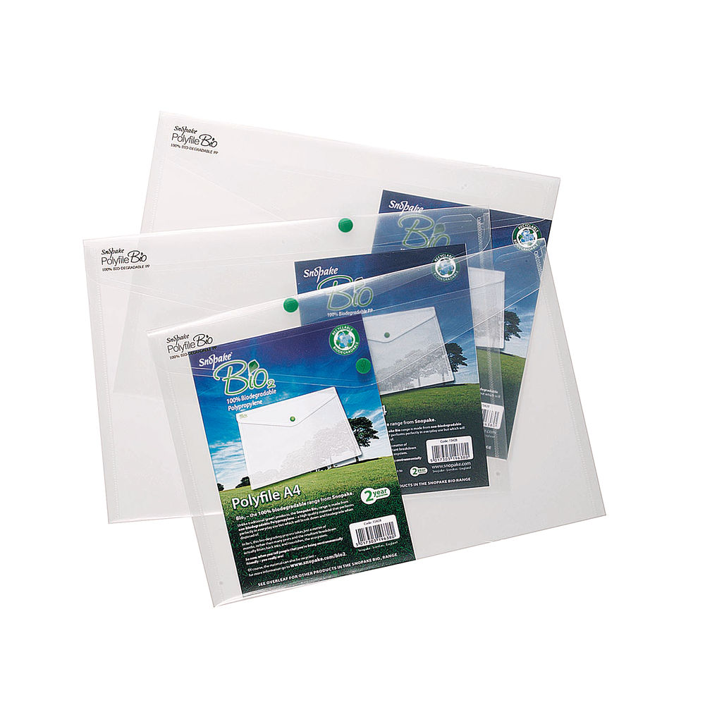 Snopake Clear A4 Bio Polyfiles, Pack of 5 - 15428