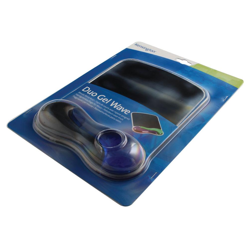 Kensington Gel Wave Black/Blue Mouse Pad - 62401