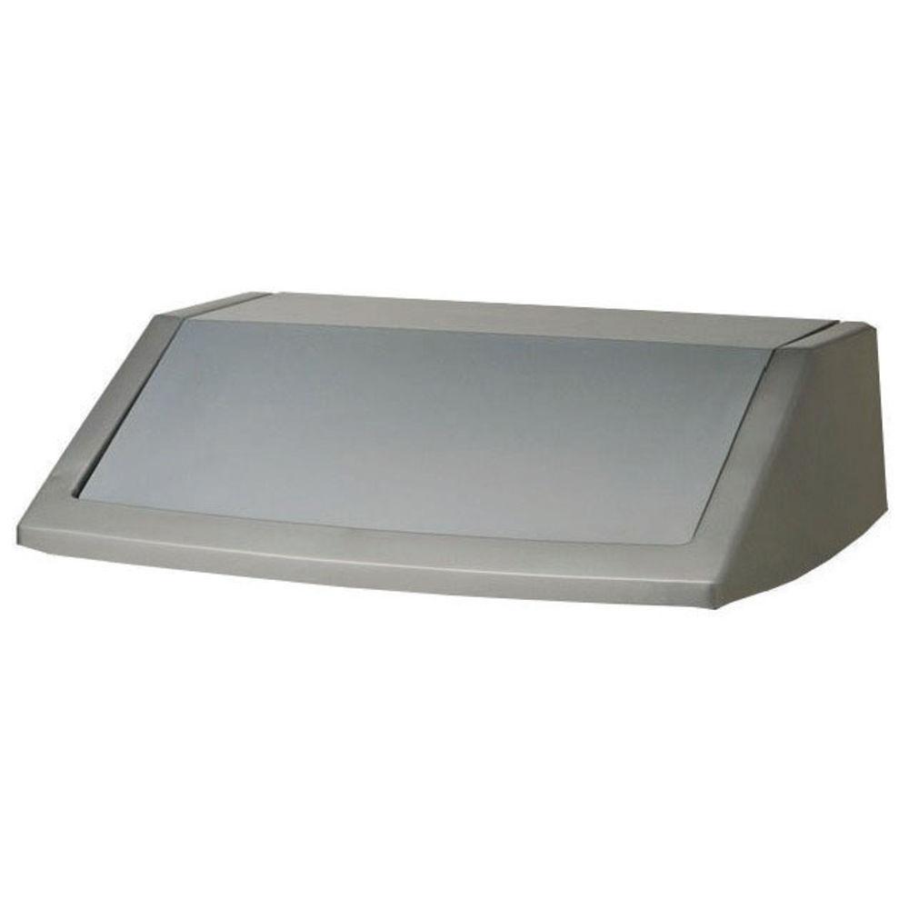 Addis Metallic Grey 60 Litre Flip Top Bin Lid - 503579
