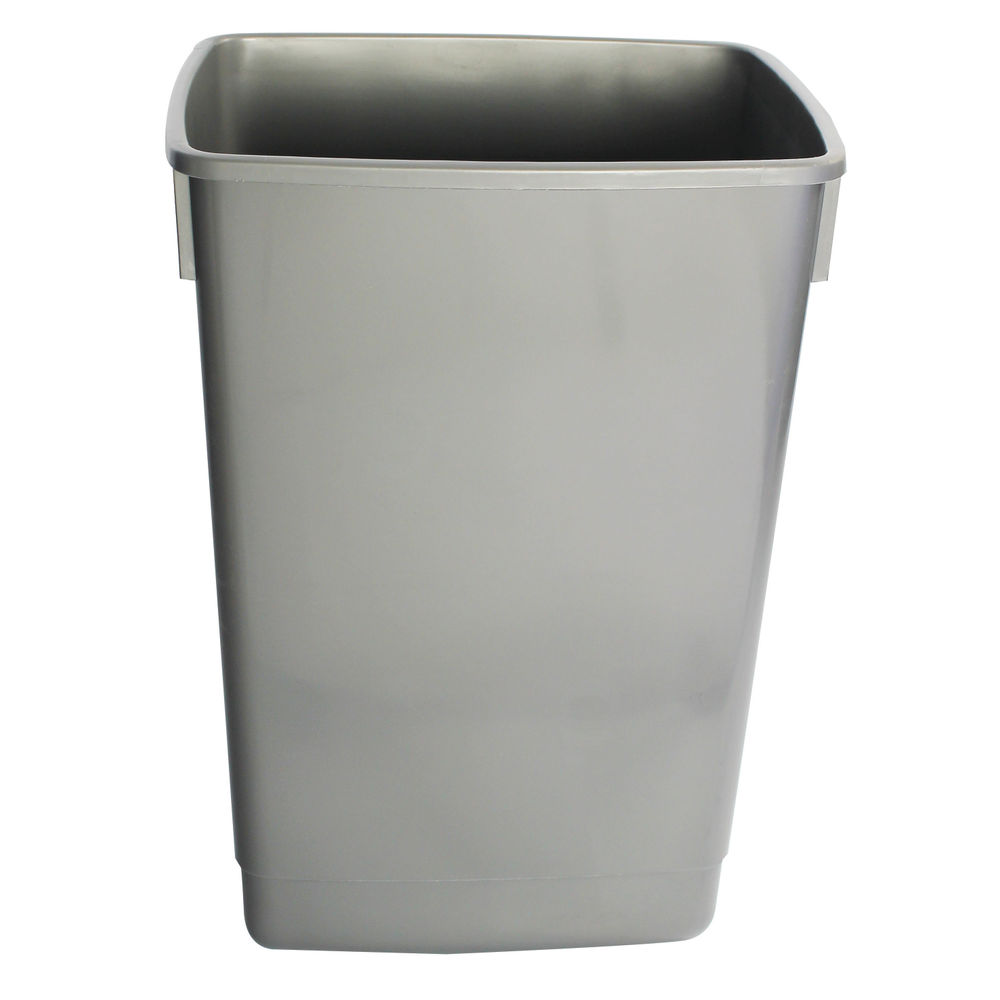 Addis Metallic Grey 54 Litre Recycling Bin Kit Base, Pack of 3 - 505574