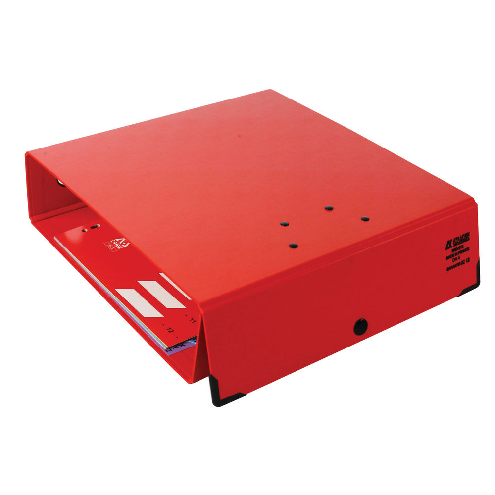 Arianex PVC Double A4 Red Lever Arch File 100mm - DA4R