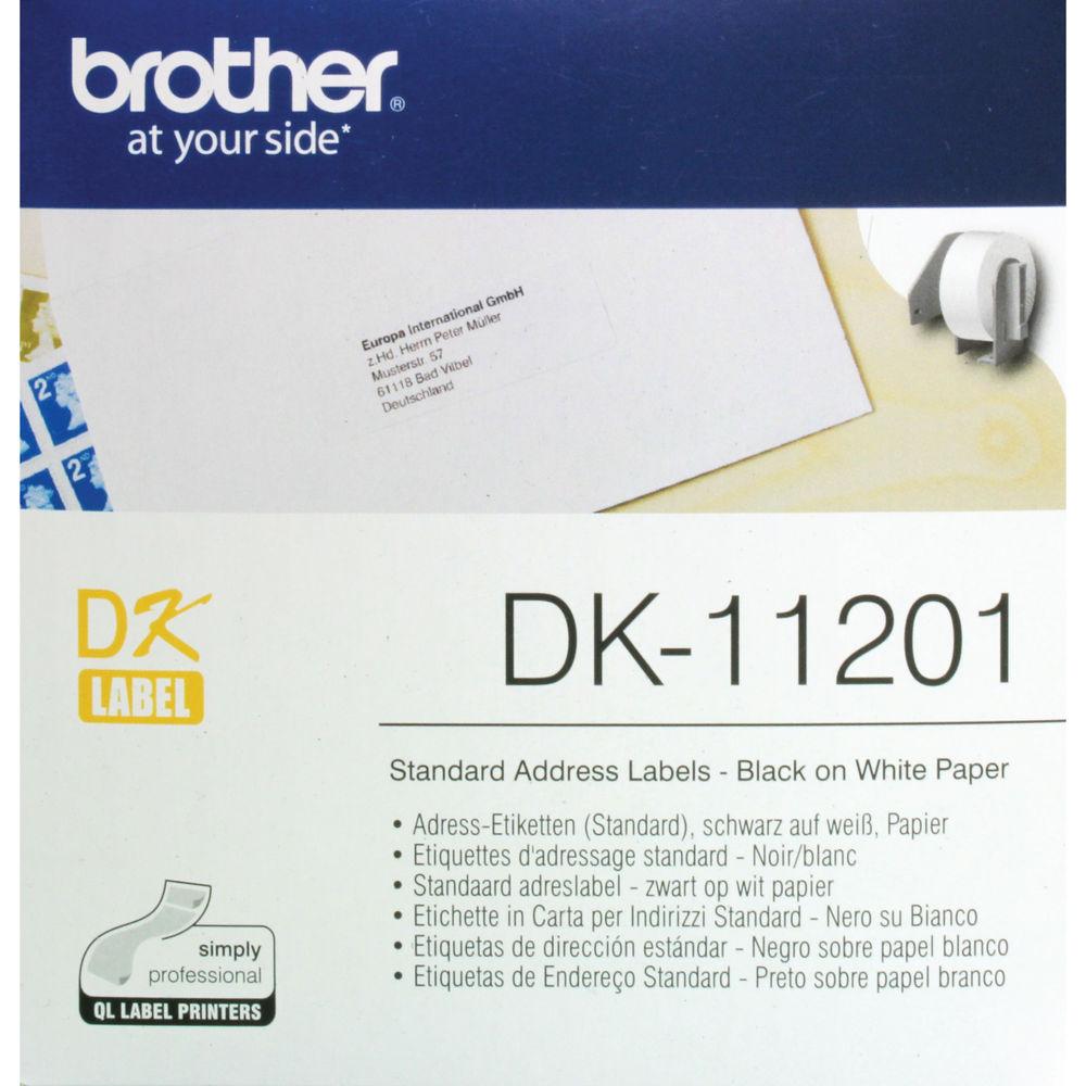 Brother Standard Address Labels, Pack of 400 DK-11201