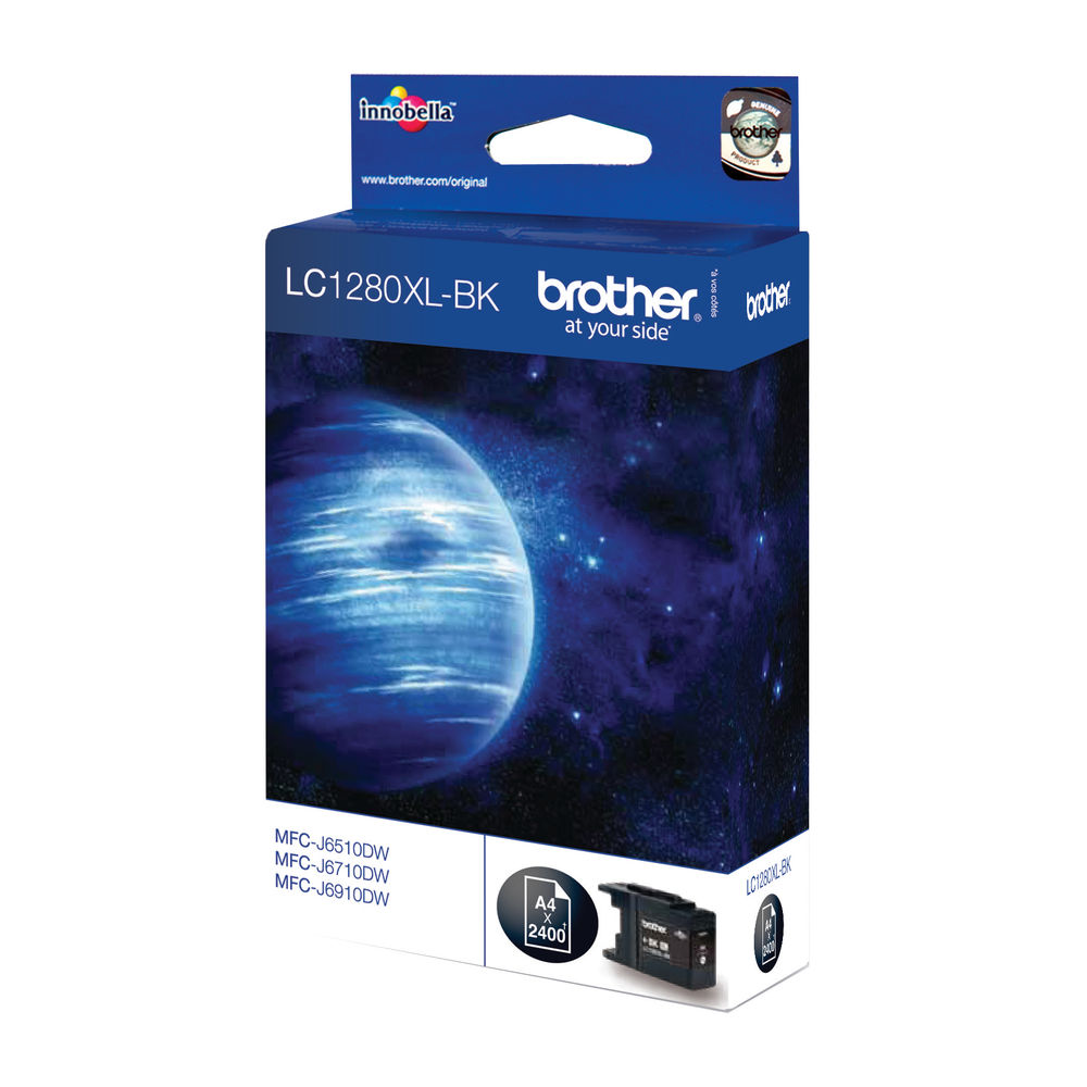 Brother LC1280XLBK High Yield Black Inkjet Cartridge LC-1280XLBK