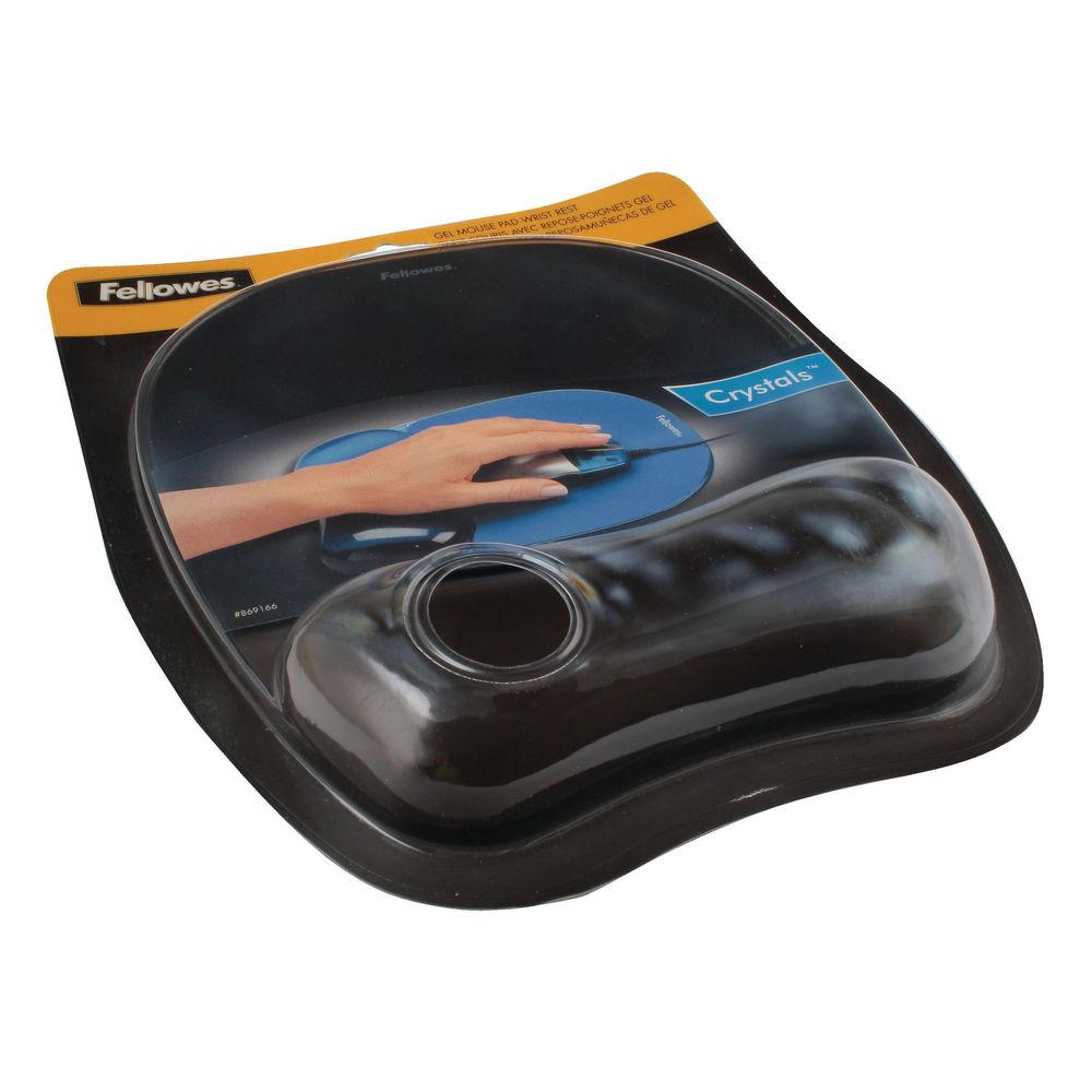 Fellowes Black Crystal Gel Mouse Mat - 9112101