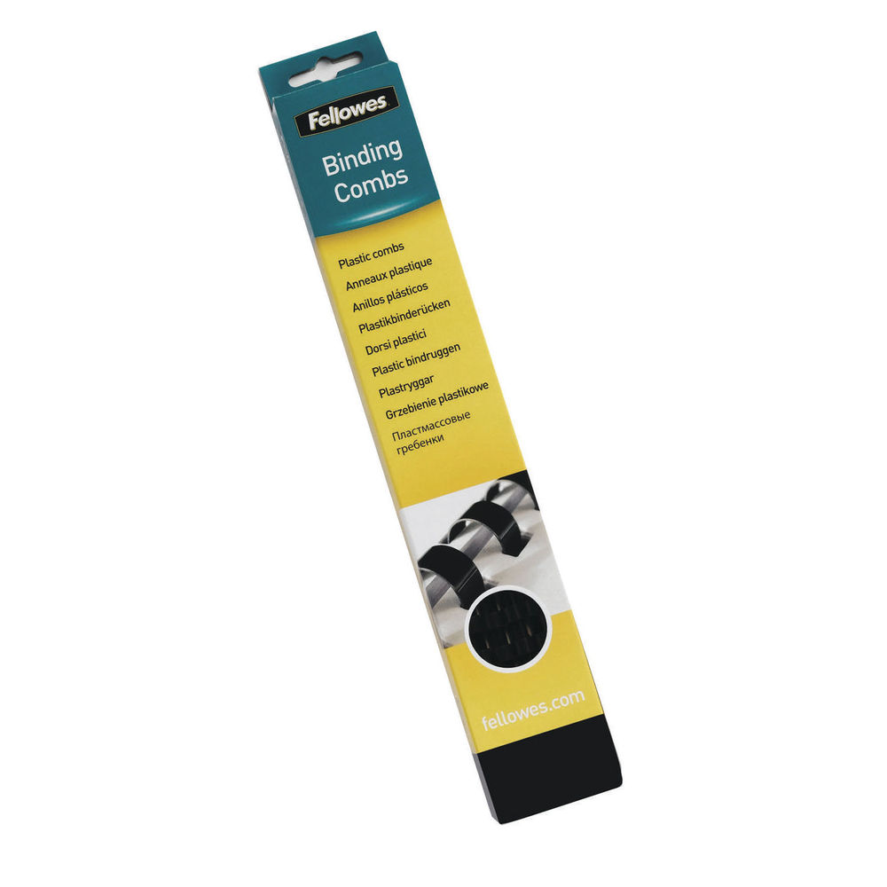 Fellowes A4 Black 19mm Binding Combs, Pack of 100 - 53477