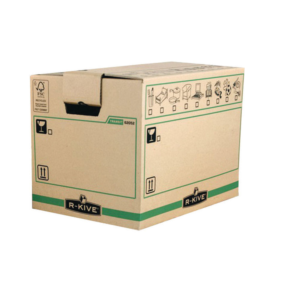 Bankers Box SmoothMove X-Large Brown/Green Moving Boxes, Pack of 5 - 6205401