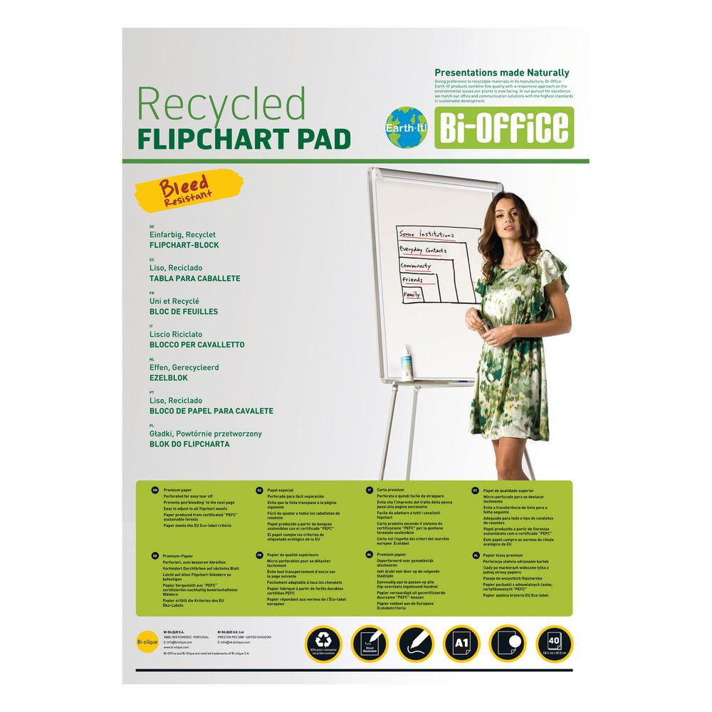 Bi-Office Earth-It A1 Flipchart Pads, Pack of 5 - BQ55181