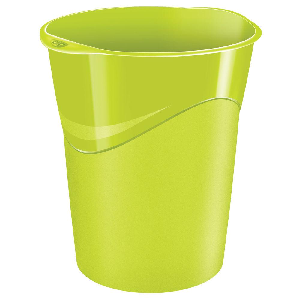 CepPro Gloss Green Waste Bin, 14L - 280G GREEN