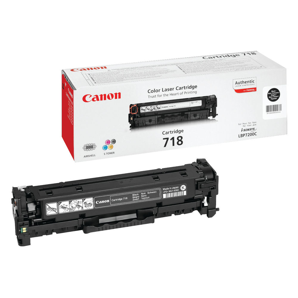 Canon 718 Black Toner Cartridge - 716 BK