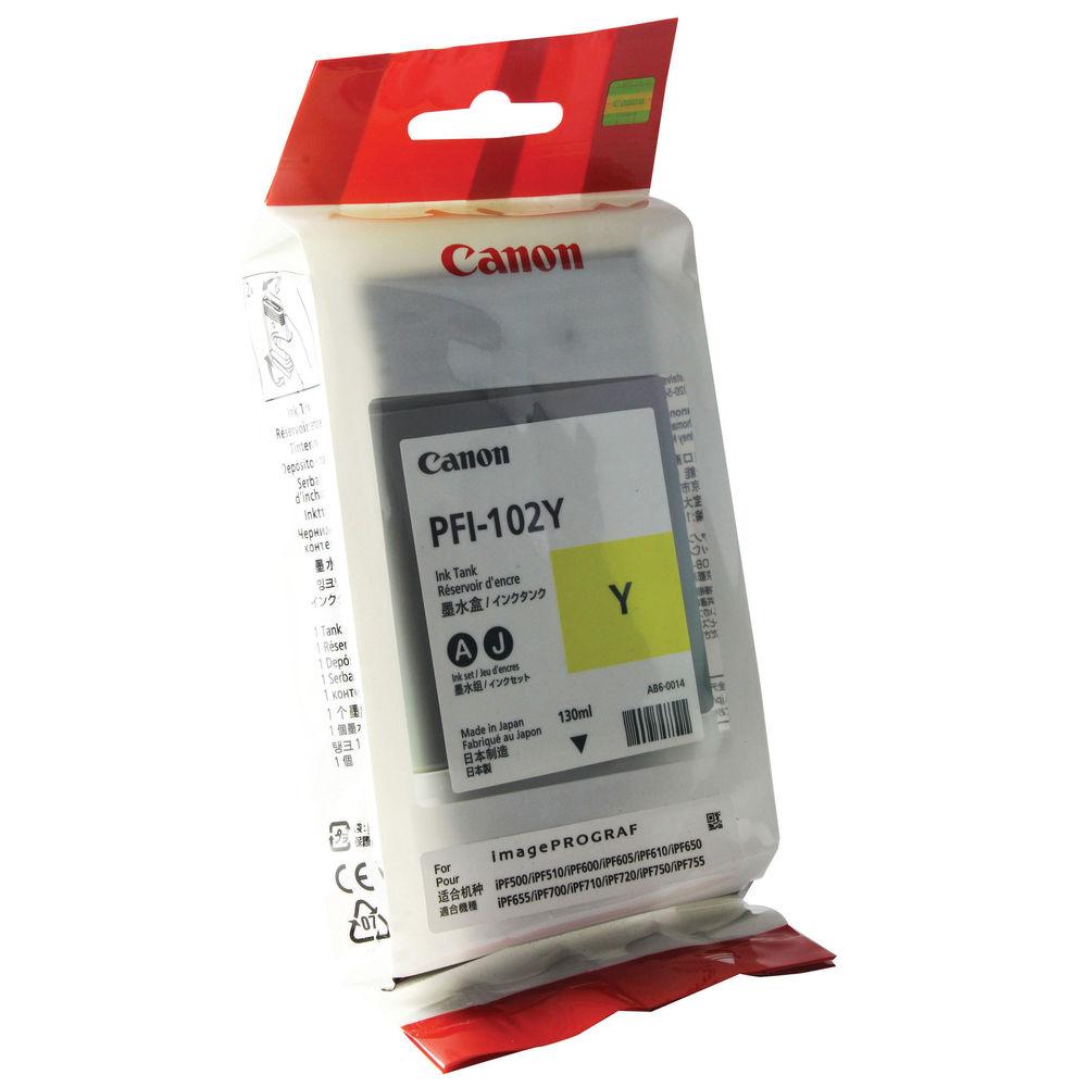 Canon PFI-102Y Yellow Ink Tank 130ml 0898B001AA