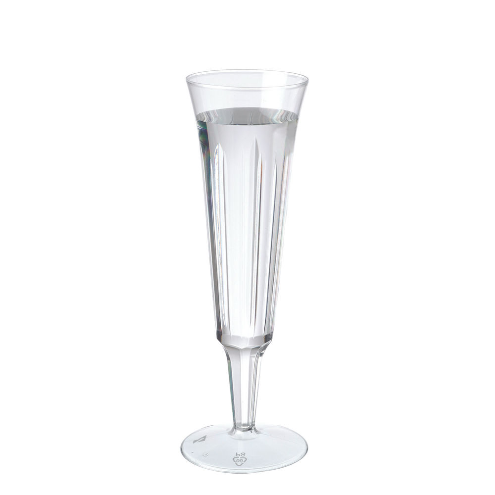 CPD 12.5cl Plastic Champagne Glasses, Pack of 10 - 0510030