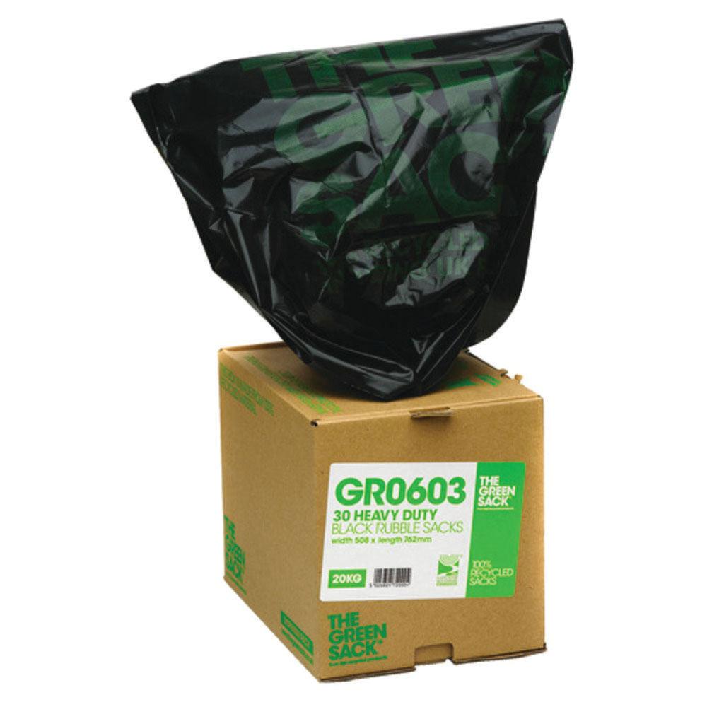 The Green Sack Rubble Sack in Dispenser Black (Pack of 30) VHP GR0603