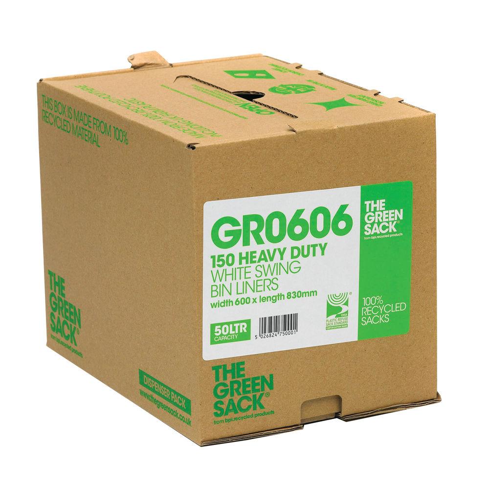 The Green Sack Swing Bin Liner in Dispenser White (Pack of 150) GR0606